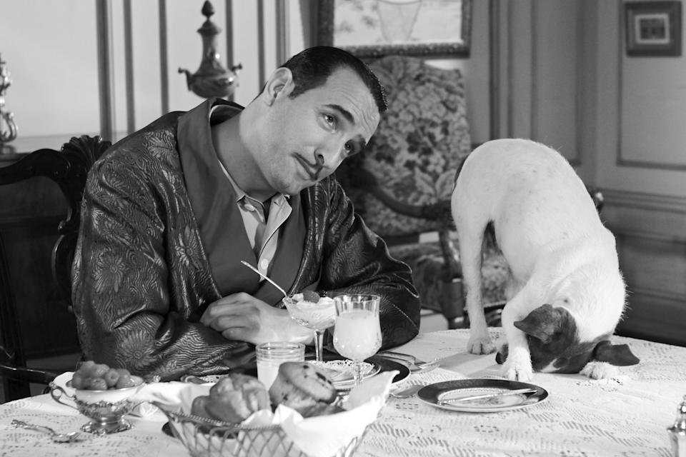 There were calls for Uggie to win an Oscar after he starred in the 2011 silent French film 'The Artist' with Jean DujardinLa Classe Americane/Ufilm/Kobal/Shutterstock