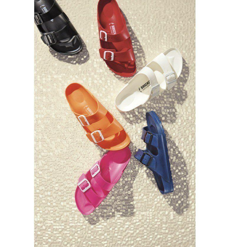 "Get it at <a href=""https://shop.nordstrom.com/s/birkenstock-essentials-arizona-slide-sandal-women/4152948?origin=category-personalizedsort&fashioncolor=PINK%20EVA"" target=""_blank"">Nordstrom</a>, $40."