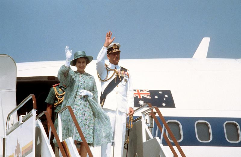 Queen Elizabeth II and the Duke of Edinburgh during their Royal visit to Australia. (Photo by PA Images via Getty Images)