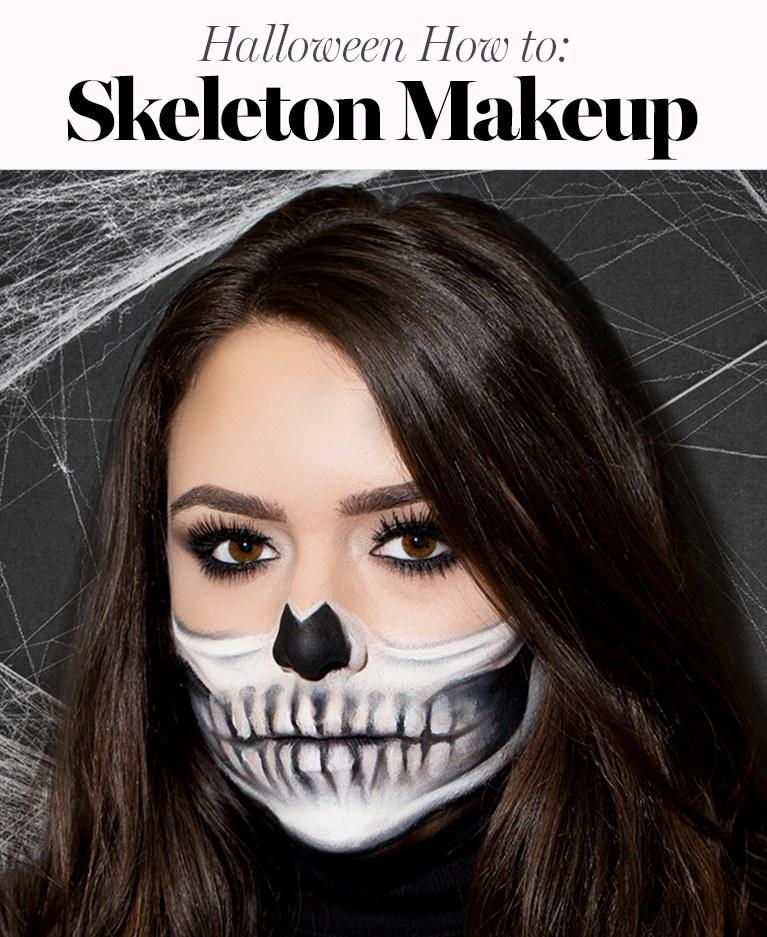 this skeleton halloween makeup tutorial is scary easy to follow. Black Bedroom Furniture Sets. Home Design Ideas