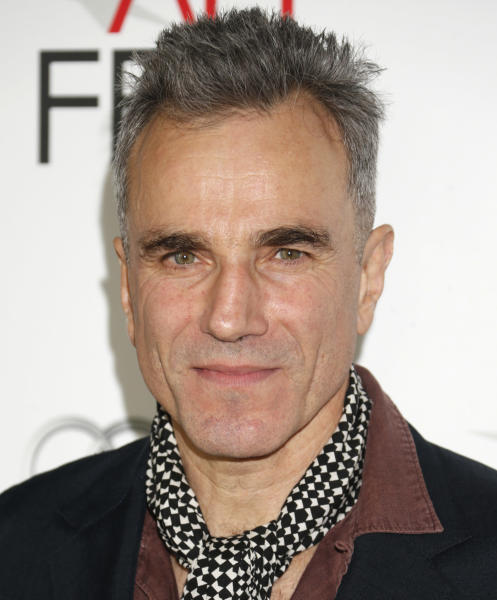 """FILE - In this Thursday, Nov. 8, 2012 photo, Daniel Day-Lewis arrives at the """"Lincoln"""" premiere at AFI Fest at Grauman's Chinese Theatre in Hollywood, California. """"Lincoln,"""" which opened in limited release Nov. 9, 2012 and expands nationwide Friday, Nov. 16, is based partly on Doris Kearns Goodwin's book """"Team of Rivals: The Political Genius of Abraham Lincoln,"""" which chronicles how the president turned fierce opponents into allies during the Civil War. (Photo by Todd Williamson/Invision/AP Images, File)"""