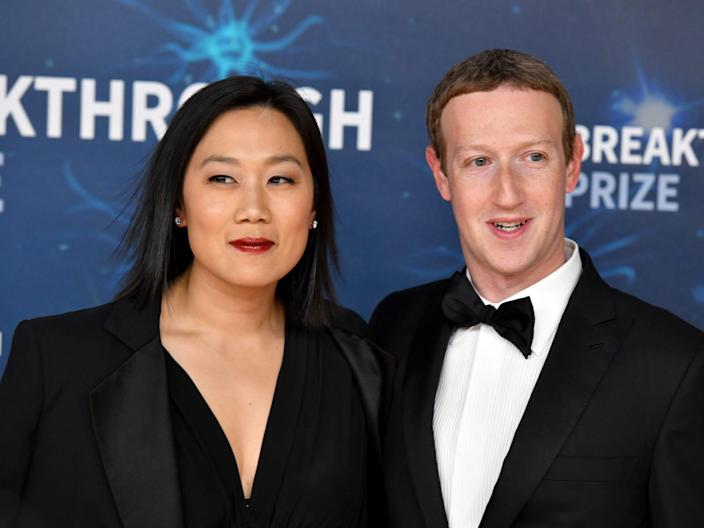mark zuckerberg priscilla chan facebook