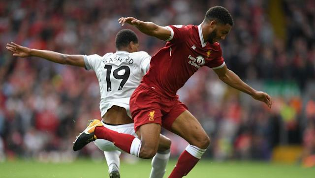 """<p>Joe Gomez has started the season superbly for Liverpool, appearing in nine Premier League games so far out of a possible eleven. </p> <br><p>Playing at right-back, Gomez has given assured performances, making more tackles than any of Liverpool's centre-backs, even providing an assist with a delicious cross for a Roberto Firmino header in the 4-0 demolition of Arsenal in August.</p> <br><p>His performances have not gone unnoticed after his man of the match performance against Manchester United, comfortably dealing with the pace of both Anthony Martial and Marcus Rashford.</p> <br><p>After the game, Gary Neville picked out the youngster for praise saying on <a href=""""http://www.skysports.com/football/news/29326/11081799/gary-nevilles-verdict-on-liverpool-and-man-utds-goalless-draw"""" rel=""""nofollow noopener"""" target=""""_blank"""" data-ylk=""""slk:Sky Sports"""" class=""""link rapid-noclick-resp"""">Sky Sports</a>: """"To me, it was a really good performance. He has handled a very difficult game.""""</p>"""