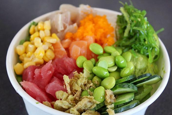 "<b>Photo: Ramen Hub & Poke/<a href=""https://yelp.com/biz_photos/ramen-hub-and-poke-long-beach-3?utm_campaign=947ede3c-8ccd-4bfc-ad41-722d3e56d951%2C22ba6420-b7c8-4910-abde-8abd6c4da9db&utm_medium=81024472-a80c-4266-a0e5-a3bf8775daa7"" rel=""nofollow noopener"" target=""_blank"" data-ylk=""slk:Yelp"" class=""link rapid-noclick-resp"">Yelp</a></b>"