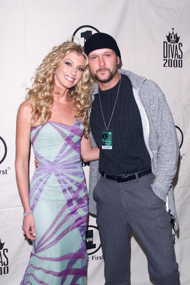 "Faith Hill and Tim McGraw attend the ""VH1 Divas 2000: Tribute to Diana Ross,"" held at Madison Square Garden in New York, April 9, 2000. (Photo: Frank Micelotta/ImageDirect/)"