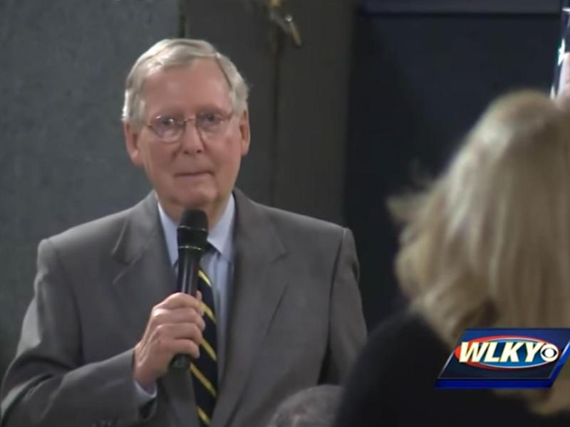 Mr McConnell's assertion contradicts that of the President: WLKY