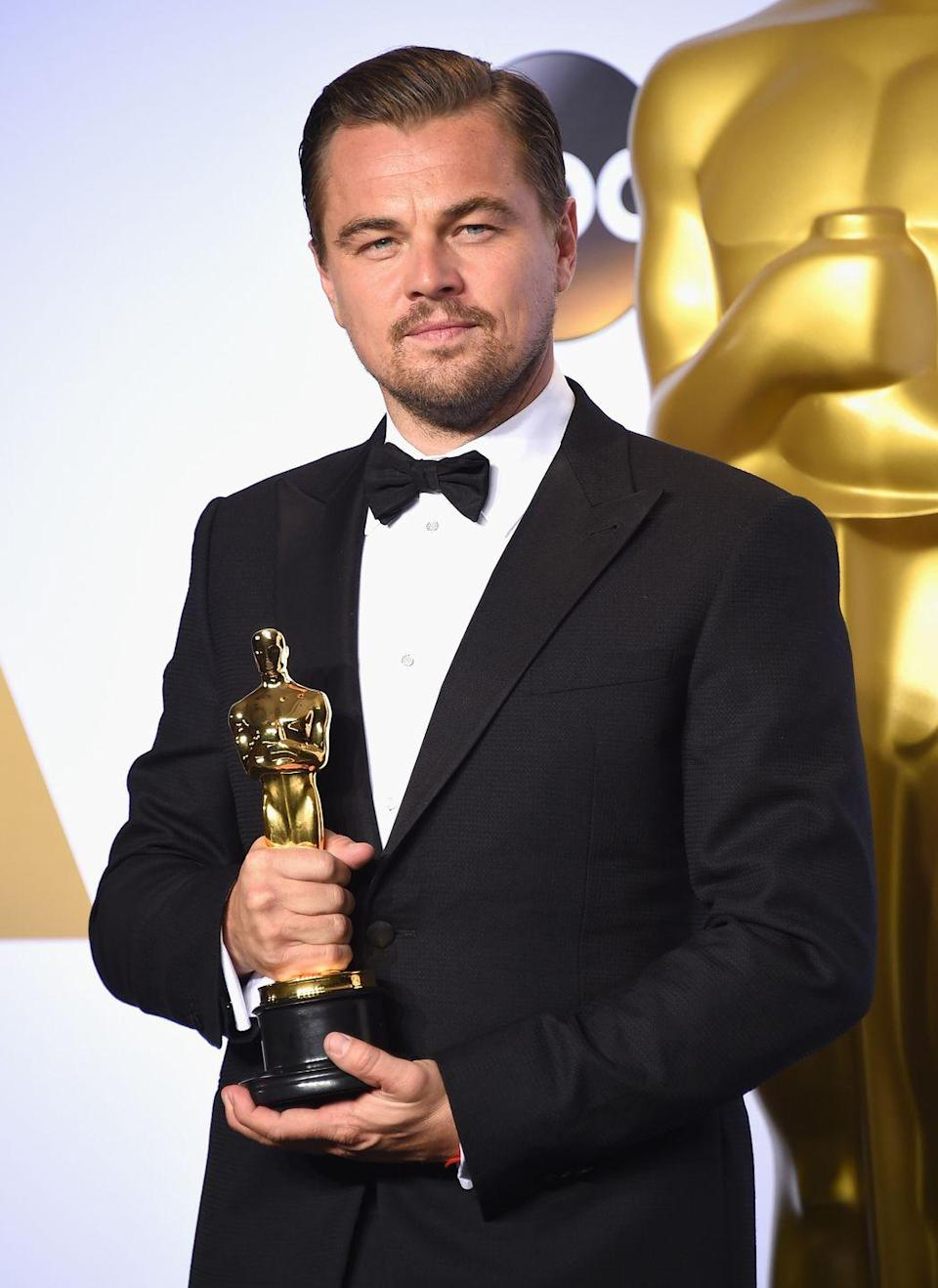 <p>Let's face it, Leonardo DiCaprio could have been named leading man most years, but 2016 is when he (finally) won an Oscar and order was restored to the universe. After a career with too many impressive performances to count, DiCaprio nabbed the statue for <em>The Revenant</em>.</p>