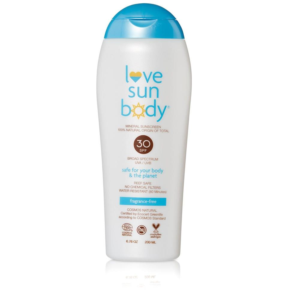 "<p><strong>Love Sun Body</strong></p><p>credobeauty.com</p><p><strong>$36.00</strong></p><p><a href=""https://go.redirectingat.com?id=74968X1596630&url=https%3A%2F%2Fcredobeauty.com%2Fproducts%2Fmineral-sunscreen-spf-30-fragrance-free&sref=https%3A%2F%2Fwww.harpersbazaar.com%2Fbeauty%2Fskin-care%2Fg32464637%2Fbest-zinc-sunscreen%2F"" rel=""nofollow noopener"" target=""_blank"" data-ylk=""slk:Shop Now"" class=""link rapid-noclick-resp"">Shop Now</a></p><p>The clean sun brand recently revamped its lotions for a more sheer, dry consistency. If your skin is especially sensitive, go for the fragrance-free version.</p>"