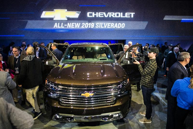 The 2019 Chevrolet Silverado is unveiled during the 2018 North American International Auto Show in Detroit, Michigan (AFP Photo/Jewel SAMAD)