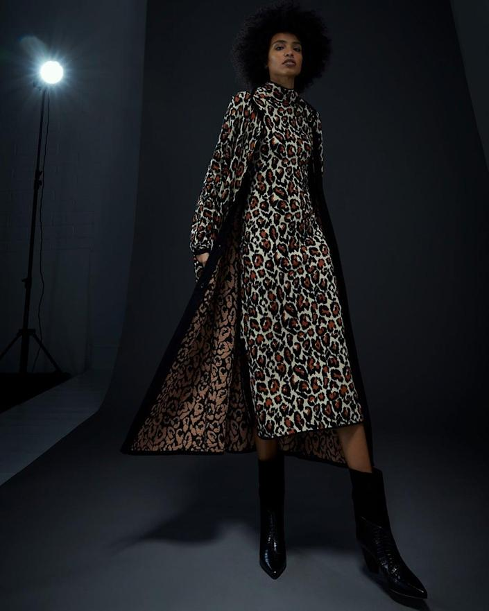 An animal print look from the Temperley London autumn/winter 2021 collection (Temperley London/PA)