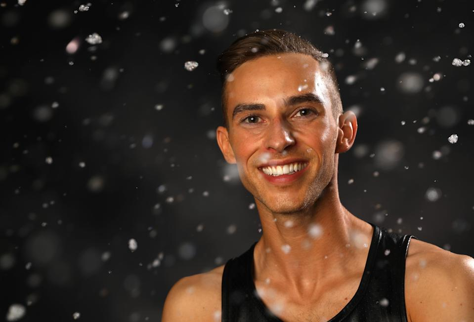 <p>Rippon poses for a portrait during the Team USA Media Summit ahead of the PyeongChang 2018 Olympic Winter Games. </p>