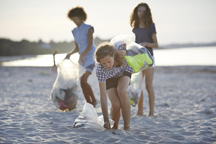 "Every year, Ocean Conservancy organizes the International Coastal Cleanup, a global event that asks volunteers to collect plastic and other garbage from coastal areas and waterways. Last year, more than 700,000 people in more than a 100 countries participated in the event, collecting more than <a href=""http://www.oceanconservancy.org/who-we-are/newsroom/2016/trash-weighing-more-than-100.html"" rel=""nofollow noopener"" target=""_blank"" data-ylk=""slk:18 million pounds of trash"" class=""link rapid-noclick-resp"">18 million pounds of trash</a> <i>in a single day.<br><br></i>In 2017, the cleanup event is planned for <a href=""http://www.oceanconservancy.org/our-work/marine-debris/"" rel=""nofollow noopener"" target=""_blank"" data-ylk=""slk:September 16"" class=""link rapid-noclick-resp"">September 16</a> ― but you don&rsquo;t have to wait till then to do something. Ocean Conservancy has a <a href=""http://www.oceanconservancy.org/our-work/international-coastal-cleanup/do-it-yourself-cleanup-tool.html"" rel=""nofollow noopener"" target=""_blank"" data-ylk=""slk:DIY toolkit"" class=""link rapid-noclick-resp"">DIY toolkit</a> to help you organize clean-ups in your own community."