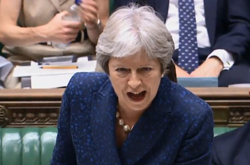 British Prime Minister Theresa May's Brexit blueprint has caused outrage among eurosceptic members of her Conservative party (AFP Photo/HO)