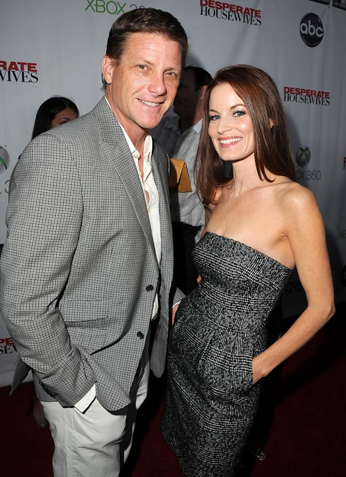 "Laura Leighton and Doug Savant attend the ""<a target=""_blank"" href=""http://tv.yahoo.com/desperate-housewives/show/36265"">Desperate Housewives</a>"" Series Finale Party at the W Hollywood on April 29, 2012 in Hollywood, California."