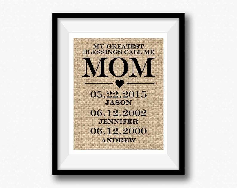 Personalized Mothers Day Gift from Etsy.