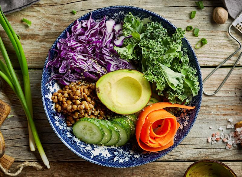 Plant based vegan salad bowl
