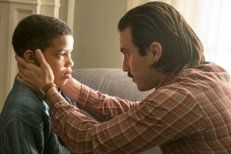 Lonnie Chavis as 9-year-old Randall, Milo Ventimiglia as Jack (Credit: Ron Batzdorff/NBC)