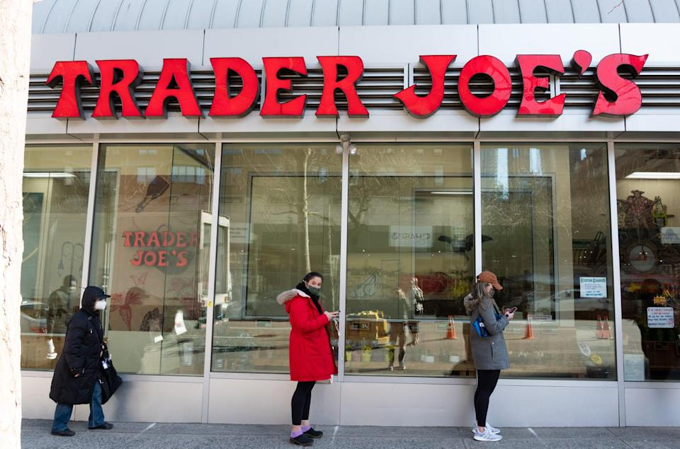"""<p>Trader Joe's announced that it will <a href=""""https://www.popsugar.com/smart-living/trader-joes-face-mask-policy-48330669"""" class=""""link rapid-noclick-resp"""" rel=""""nofollow noopener"""" target=""""_blank"""" data-ylk=""""slk:no longer require fully vaccinated individuals to wear masks inside its stores"""">no longer require fully vaccinated individuals to wear masks inside its stores</a> and will not be asking for proof of vaccination. Trader Joe's employees will still be required to wear masks.</p>"""