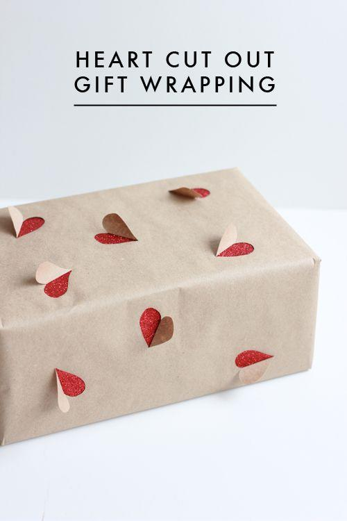 """<p>Thoughtful gift wrapping makes the best gift even sweeter. Elevate plain old brown wrapping paper by using an X-ACTO knife to cut out pop-up hearts. </p><p><a href=""""http://thehousethatlarsbuilt.com/2013/02/2-simple-valentines-day-gift-wrapping-ideas.html/"""" rel=""""nofollow noopener"""" target=""""_blank"""" data-ylk=""""slk:Get the tutorial at The House that Lars Built »"""" class=""""link rapid-noclick-resp""""><em>Get the tutorial at The House that Lars Built »</em></a></p>"""