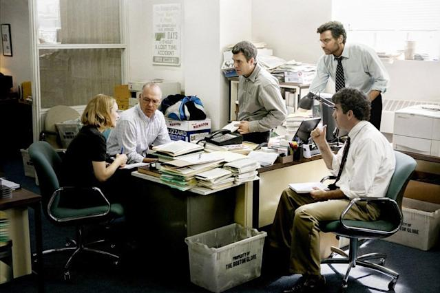 <p><em>Spotlight</em> tells the true story of how <em>The Boston Globe</em> uncovered sexual abuse in the Catholic Church. It earned the coveted Oscar for Best Picture in 2016.</p>