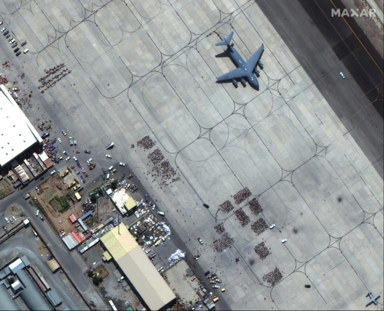 The Hamid Karzai International Airport in Afghanistan (tarmac pictured in this handout satellite image released by Maxar Technologies) is in a bad state, according to US officials (AFP/-)
