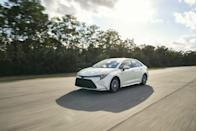 """<p>The <a href=""""https://www.caranddriver.com/toyota/corolla"""" rel=""""nofollow noopener"""" target=""""_blank"""" data-ylk=""""slk:2021 Toyota Corolla"""" class=""""link rapid-noclick-resp"""">2021 Toyota Corolla</a> continues its tradition of being an inexpensive, safety-minded, and well-equipped compact car. Available as either a four-door hatchback or sedan, the little <a href=""""https://www.caranddriver.com/toyota"""" rel=""""nofollow noopener"""" target=""""_blank"""" data-ylk=""""slk:Toyota"""" class=""""link rapid-noclick-resp"""">Toyota</a> offers a variety of personalities. Both body styles feature a pair of dutiful four-cylinder engines, and they're also offered with an extremely frugal hybrid powertrain. For folks who appreciate driving engagement, the Corolla can be had with a manual transmission and a sport-tuned suspension. However, it's still less exciting than most of its competitors, such as the <a href=""""https://www.caranddriver.com/honda/civic"""" rel=""""nofollow noopener"""" target=""""_blank"""" data-ylk=""""slk:Honda Civic"""" class=""""link rapid-noclick-resp"""">Honda Civic</a> and <a href=""""https://www.caranddriver.com/mazda/mazda-3"""" rel=""""nofollow noopener"""" target=""""_blank"""" data-ylk=""""slk:Mazda 3"""" class=""""link rapid-noclick-resp"""">Mazda 3</a>. While the hatch has a tiny back seat, it shares desirable features and an attractive cabin design with the sedan. The 2021 Corolla isn't the most exciting small car, but it's still an efficient and stylish choice.</p><p><a class=""""link rapid-noclick-resp"""" href=""""https://www.caranddriver.com/toyota/corolla"""" rel=""""nofollow noopener"""" target=""""_blank"""" data-ylk=""""slk:Review, Pricing, and Specs"""">Review, Pricing, and Specs</a></p>"""