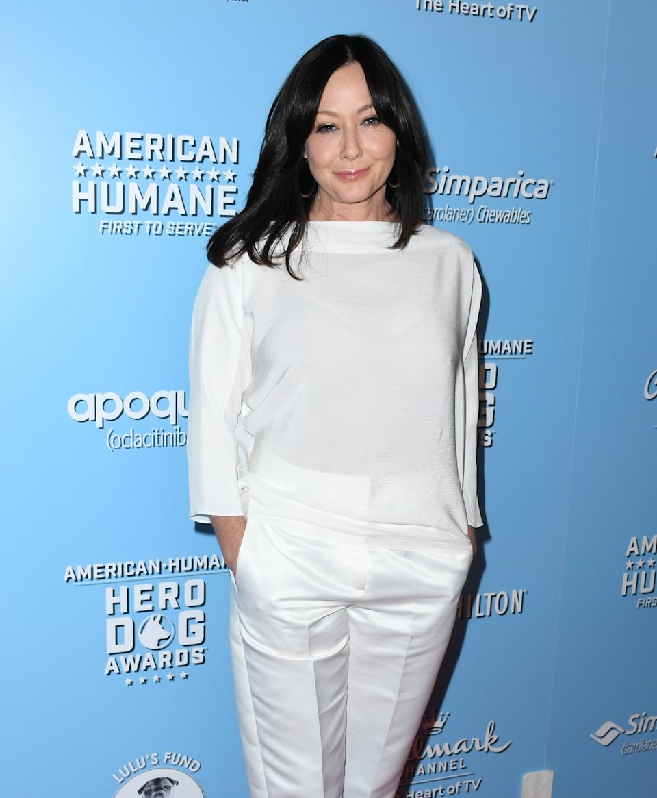 BEVERLY HILLS, CALIFORNIA - OCTOBER 05:  Shannen Doherty attends the 9th Annual American Humane Hero Dog Awards at The Beverly Hilton Hotel on October 05, 2019 in Beverly Hills, California. (Photo by Jon Kopaloff/Getty Images)