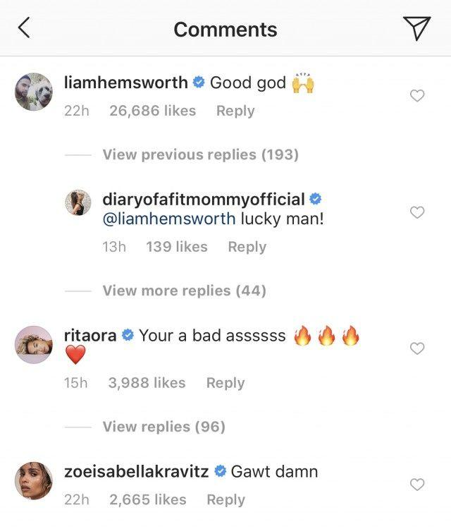 Liam Hemworth Miley Comment