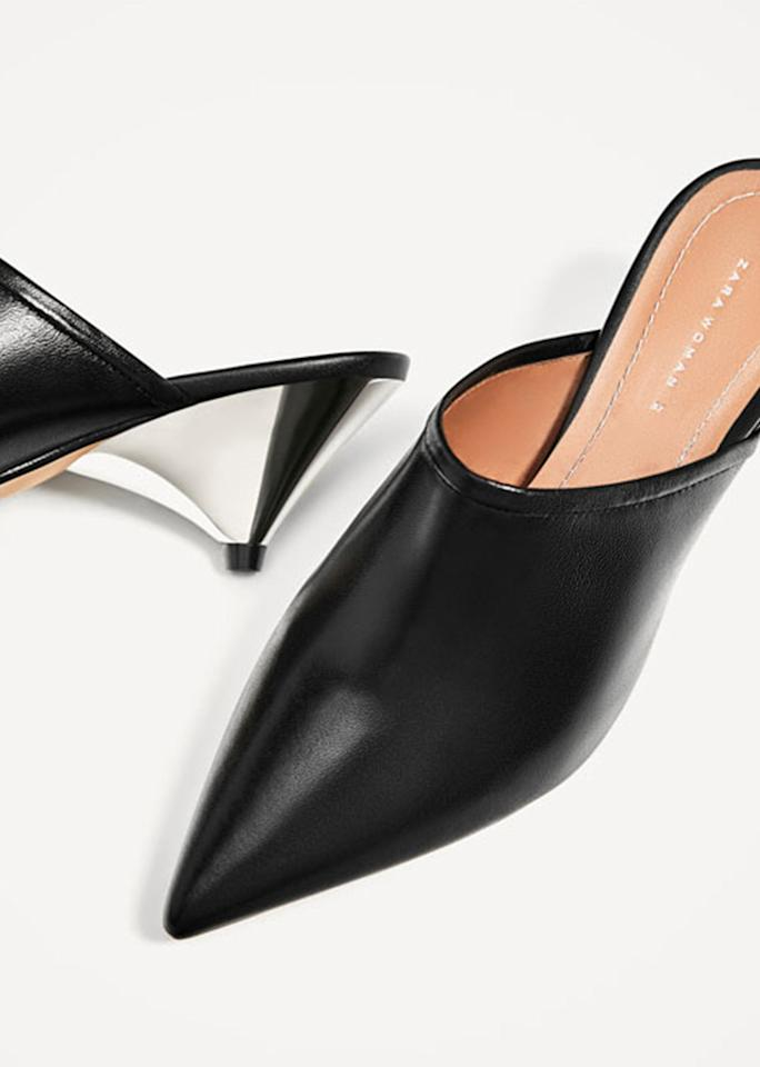 """Zara Slingback Shoes, $119; at <a rel=""""nofollow"""" href=""""http://www.zara.com/us/en/woman/shoes/view-all/slingback-leather-shoes-c719531p4275024.html"""" rel="""""""">Zara</a>"""