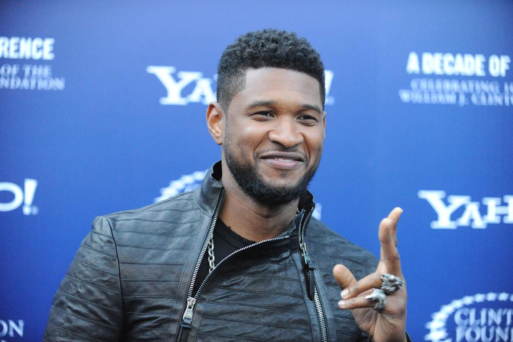 """Usher arrives at the """"A Decade of Difference"""" concert on October 15, 2011, at the Hollywood Bowl, Los Angeles. <br><br>(Photo by Stephanie Cabral/Yahoo!)"""