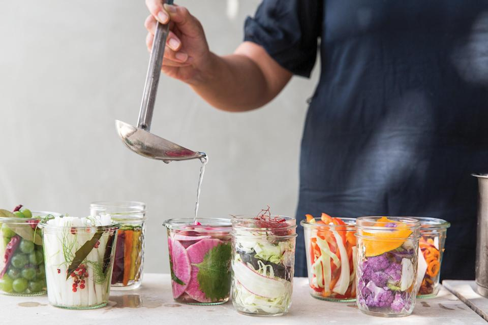 """Quick pickles make great use of all the beautiful market vegetables that start popping up this time of year. Pack up a few different kinds to keep your park or beach snacks exciting. <a href=""""https://www.epicurious.com/recipes/food/views/amazuzuke-quick-vinegar-pickles-sonoko-sakai?mbid=synd_yahoo_rss"""" rel=""""nofollow noopener"""" target=""""_blank"""" data-ylk=""""slk:See recipe."""" class=""""link rapid-noclick-resp"""">See recipe.</a>"""