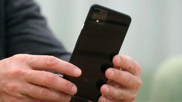 PHOTO: Rick Osterloh, SVP of Google Hardware holds a new Pixel 4 phone while interviewed in Mountain View, Calif., Sept. 24, 2019. (Jeff Chiu/AP, FILE)