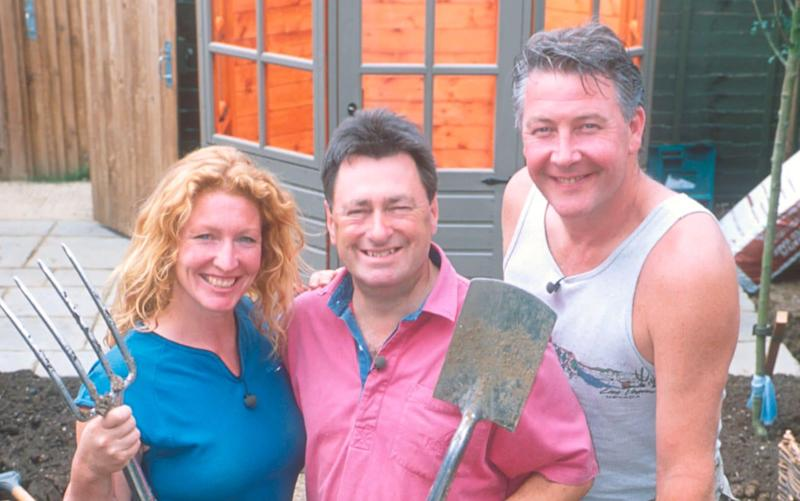 Alan Titchmarsh with Ground Force presenters Charlie Dimmock and Tommy Walsh - BBC