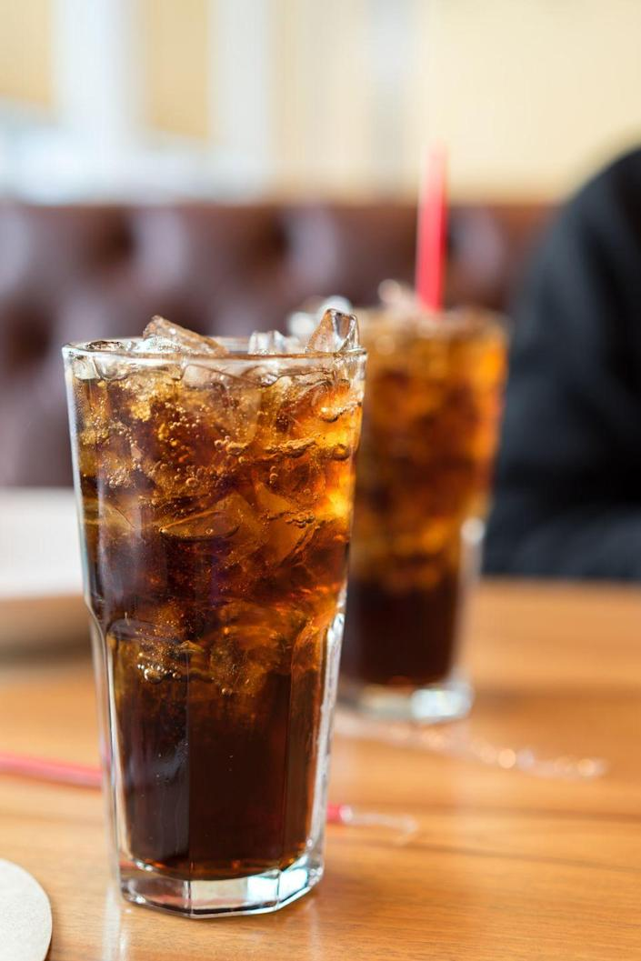 <p>This drink is full of empty calories and has no nutritional value or benefits. Whether it's diet or regular, both aren't ideal and can wreak havoc on your gut.</p>