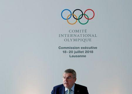 Thomas Bach, President of the International Olympic Committee (IOC) opens the Executive Board meeting in Lausanne, Switzerland, July 18, 2018. REUTERS/Denis Balibouse
