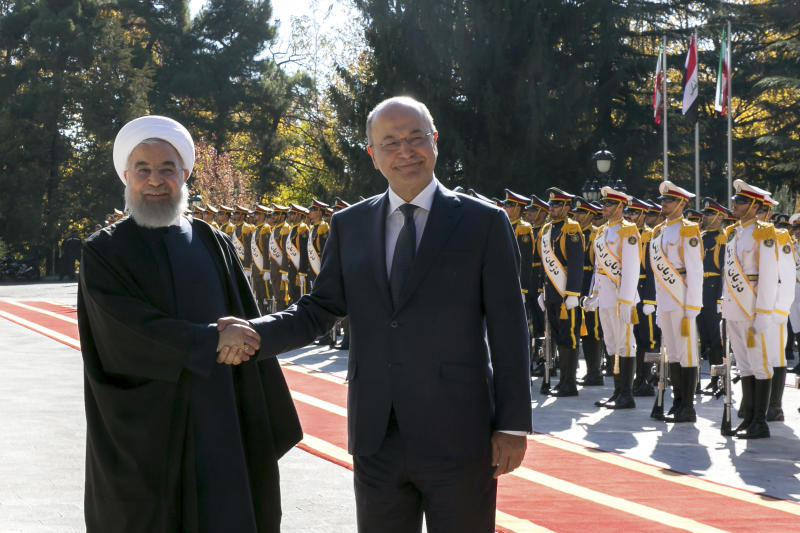 Iraq's president visits Iran weeks after US renews sanctions