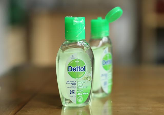 Dettol hand sanitiser gel, sales of which have climbed during the coronavirus pandemic. (PA)