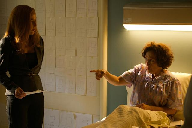 Anderson and Karin Konoval in <em>The X-Files</em> (Photo: Shane Harvey/Fox)