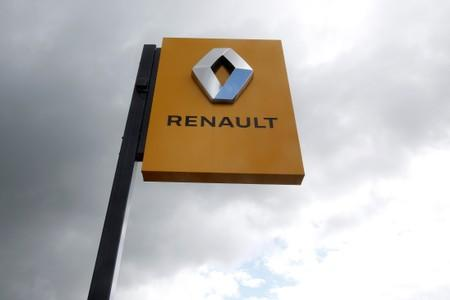 The logo of French car manufacturer Renault is seen at a dealership of the company in Bordeaux