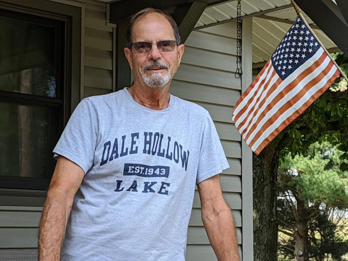 Keith Gardner, a Naval Reserve veteran and retired electrician, is one of the few Jeromesville-area residents with a sign for Joe Biden in his yard, a little more than a mile outside the Ashland County village.