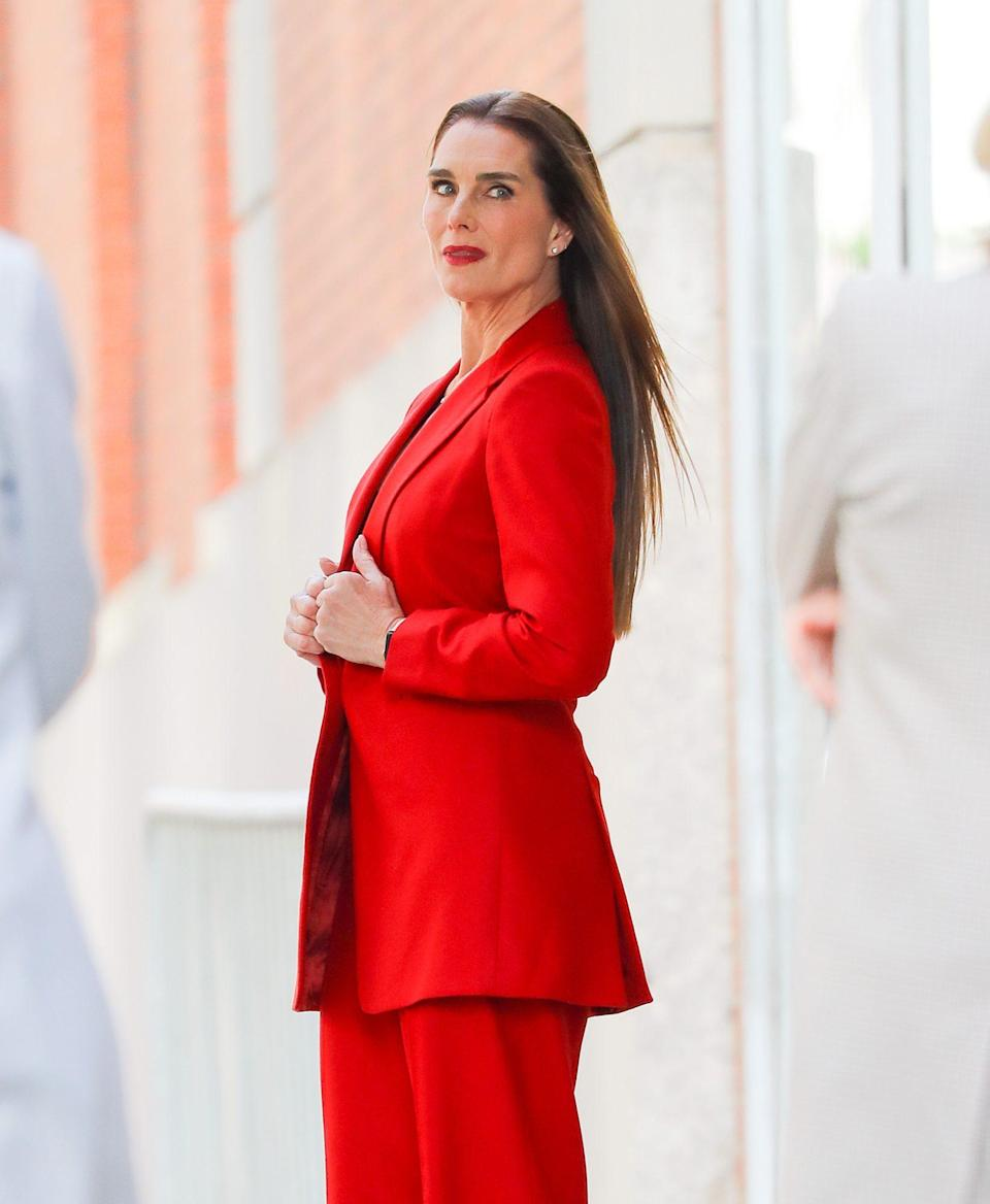 <p>Brooke Shields stuns on Thursday during a photo shoot in New York City.</p>