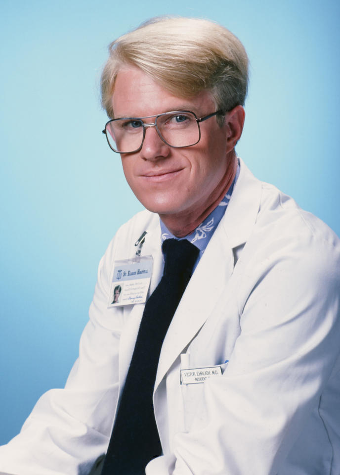 """<span style=""""font-weight:bold;"""">Ed Begley, Jr.</span> as Dr. Victor Ehrlich, """"St. Elsewhere"""" (1982-1988)<br><br>Outstanding Supporting Actor in a Drama Series<br><br>0 wins, 6 consecutive nominations (1983-1988)"""