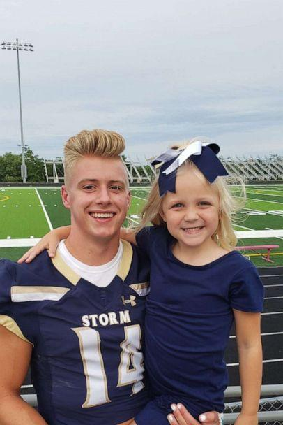 PHOTO: McKinley Blue, 6and Elliott Brown, 17, have shared a special bond ever since Elliott began visiting her in the hospital when she was injured in a 2018 car accident in Omaha, Nebraska. (Jessica Blue)