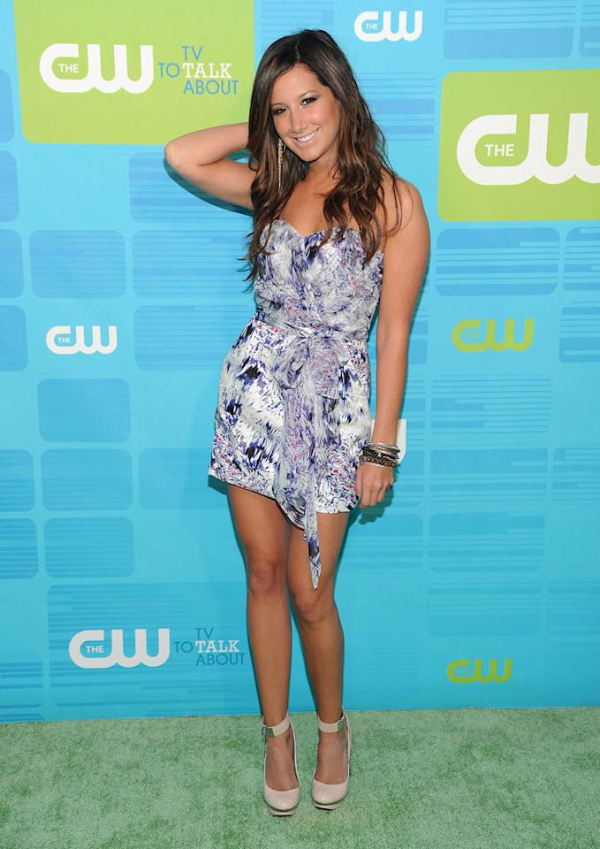 "<a href=""/ashley-tisdale/contributor/54335"">Ashley Tisdale</a> (""<a href=""/hellcats/show/46554"">Hellcats</a>"") attends the 2010 The CW Upfront at Madison Square Garden on May 20, 2010 in New York City."