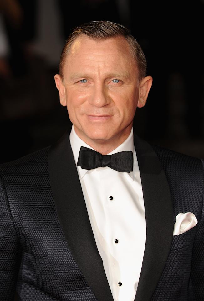 LONDON, ENGLAND - OCTOBER 23:  Daniel Craig attends the Royal World Premiere of 'Skyfall' at the Royal Albert Hall on October 23, 2012 in London, England.  (Photo by Eamonn McCormack/Getty Images)