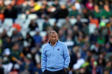 Rugby Union - Second Test International - South Africa v England - Free State Stadium, Bloemfontein, South Africa - June 16, 2018. England head coach Eddie Jones looks on. REUTERS/Siphiwe Sibeko/File Photo