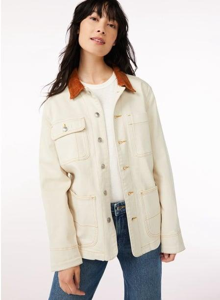 <p>Obsessed isn't even the word. The <span>Free Assembly Women's Barn Jacket with Corduroy Collar</span> ($36) will be your go-to jacket this fall.</p>