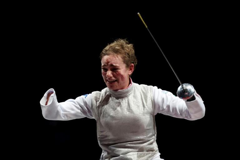 Italy's Beatrice Vio, one of the world's best-known Paralympians, defended her Rio gold in sparkling form (AFP/Behrouz MEHRI)