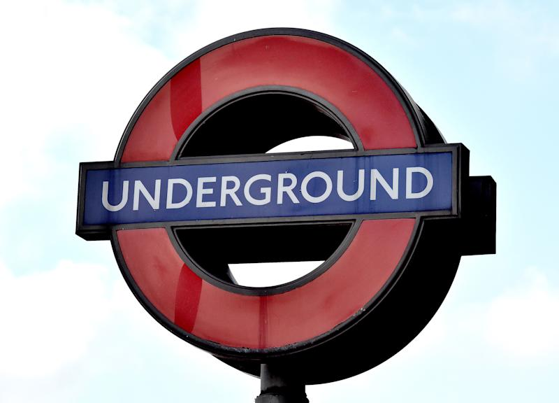 File photo dated 06/02/18 of a London Underground sign. Tube passengers will have access to the 4G network anywhere on the London Underground by the mid-2020s, Transport for London (TfL) has revealed.