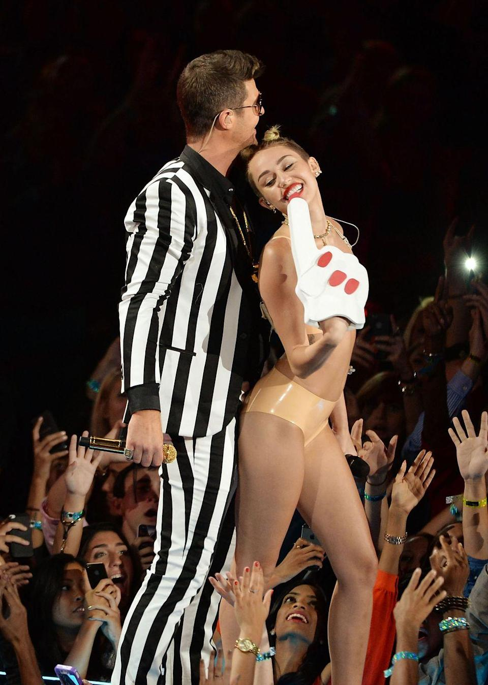 <p>Miley Cyrus's foam finger from the 2013 VMAs reached icon status for all of the wrong reasons. The accessory was a part of the singer's risqué dance with Robin Thicke which...let's just say will live on in infamy. </p>